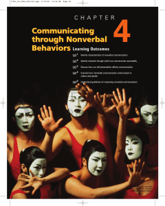 Communicating through Nonverbal Behaviors