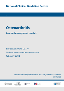 Osteoarthritis — Care and management in adults