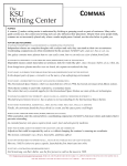 commas - Kennesaw State University | Writing Center