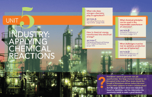 industry: applying chemical reactions