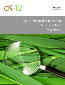 26CK-12 Physical Science for Middle School