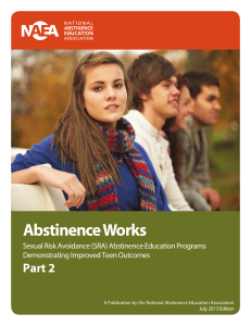 Abstinence Works - The National Abstinence Education Association