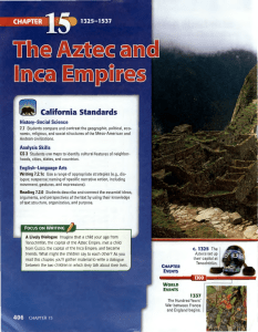 Chapter 15 - Aztec and Inca Empires