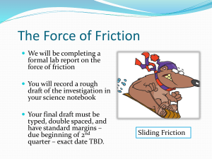 The Force of Friction