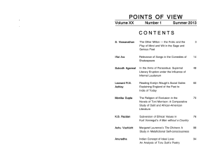points of view - A Research Journal in English