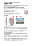 User instructions for ventilation system and heating