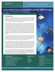 SMPD Product Brief - IXYS Power