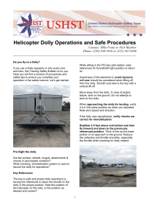Helicopter Dolly Operations and Safe Procedures