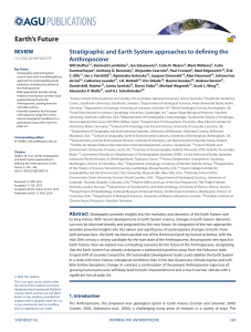 Stratigraphic and Earth System Approaches to Defining the