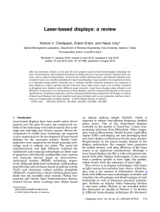 Laser-based displays: a review - Optical Microsystems Laboratory