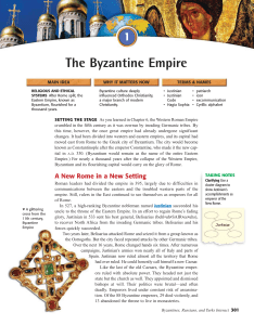 European Middle Ages and Bizantium