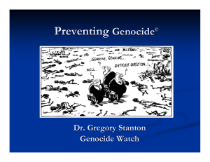 Preventing Genocide
