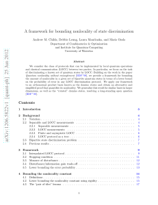 A framework for bounding nonlocality of state discrimination