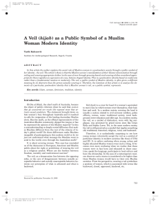 A Veil (hijab) as a Public Symbol of a Muslim