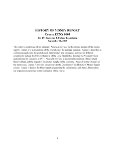 The History of Money - Dr. Francisco J. Collazo