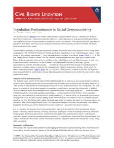 Population Predominance in Racial Gerrymandering