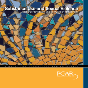 Substance Use and Sexual Violence