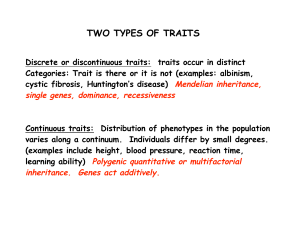TWO TYPES OF TRAITS