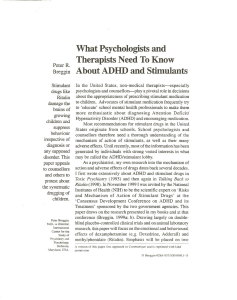 What Psychologists and Therapists Need To Know About ADHD and