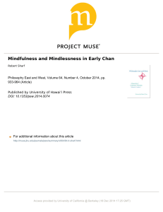 Mindfulness and Mindlessness in Early Chan