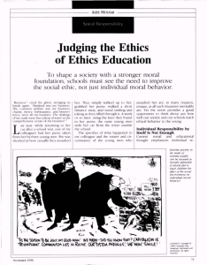 Judging the Ethics of Ethics Education