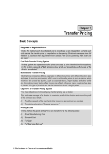 Transfer Pricing - ICAI Knowledge Gateway