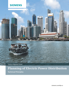 Planning of Electric Power Distribution