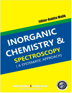 inorganic chemistry and spectroscopy ( a systematic approach)