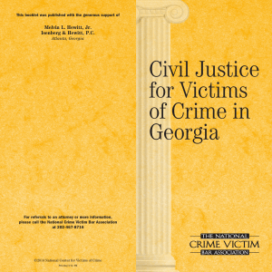 Civil Justice for Victims of Crime in Georgia