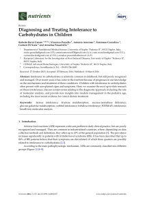 Diagnosing and Treating Intolerance to Carbohydrates in Children