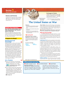 The United States at War - HASTworldhistory9thgrade