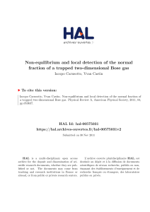 Non-equilibrium and local detection of the normal fraction of a