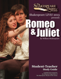 Romeo and Juliet - The Shakespeare Theatre of New Jersey