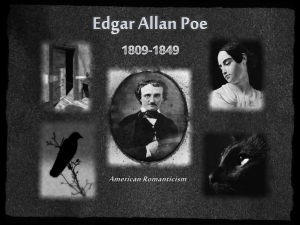 Edgar Allan Poe - Mrs. J Waters Classes