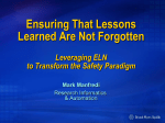 ELN Safety - Ensuring Lessons are not Forgotten