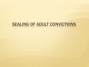Sealing of Adult Convictions