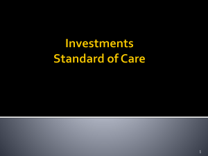 Investments/Standard of Care