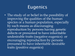 Eugenics - Fairview High School