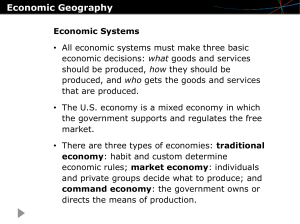 Ch. 4 Economic Geography