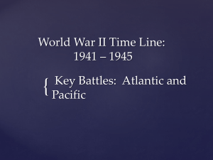 World War II Time Line: 1941 * 1945 Key Battles - pams