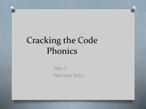 Cracking the Code Phonics