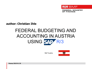 Federal Budgeting and Accounting in AUSTRIA, using