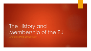 The History and Membership of the EU
