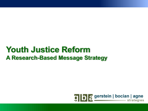 GBA Strategies - Campaign for Youth Justice