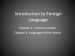 Introduction to Foreign Language