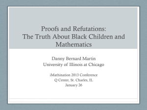 Proofs and Refutations: The Making of Black Children in