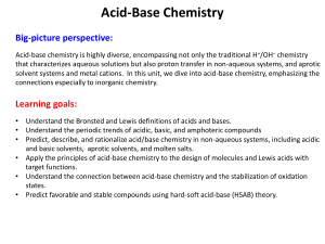 acidbase chemistry essay Chemistry: acids, bases and dry them between two filter papers this is a method to make a neutralization reaction between a base and an acid producing a salt.