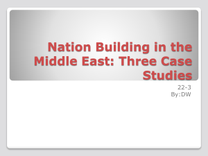 Nation Building in the Middle East: Three Case