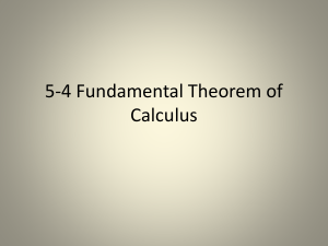5.4 Fundamental Theorem of Calculus Herbst - Spring