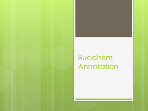 Buddhism Reading Annotation